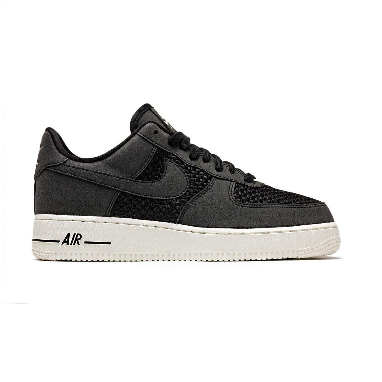 Herren Nike Air Force 1 Lo Schwarze Turnschuhe AQ8624 001