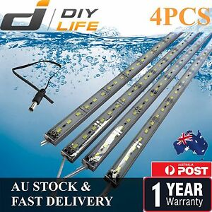 4X12V-Waterproof-Cool-White-5630-Led-Strip-Lights-Bars-Camping-Caravan-Boat-Car