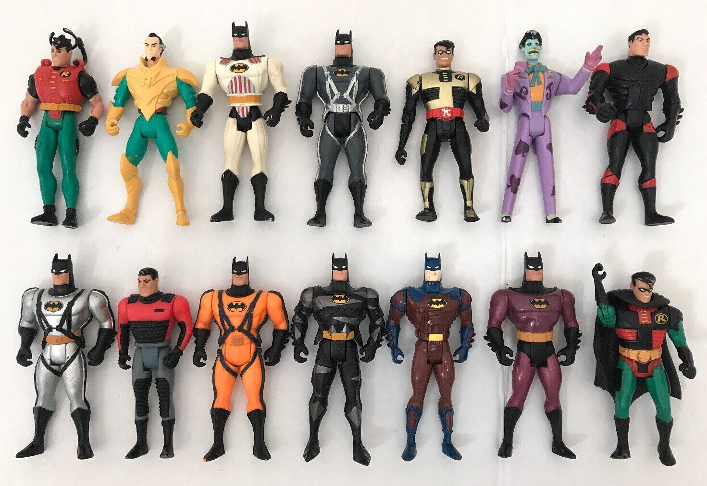 14PC Batman Animated Series Action Figures DC Cartoon Joker Robin Ras al ghul