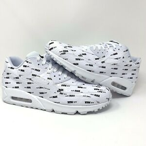 buy online c4a6e 52a26 Image is loading Nike-Air-Max-90-Premium-White-Black-700155-