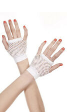 Wrist Length Fingerless Fishnet Gloves Punk Goth Rocker Chic Rave Black or Pink