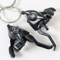 Shimano St-ef51 Gear Shifter/brake Lever 3 X 7,8,21,24 Speed Set Black Sets