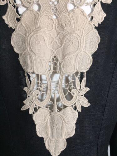 Ny of Jakke the Sort Blonde Skull Linen Talk 8 Blazer Walk Floral Størrelse Hæklet vdtwxg5q5R