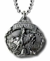 Bull Riding Necklace - 8 Second Ride - Horses - Pbr Rodeo Gift Free Ship 22 C