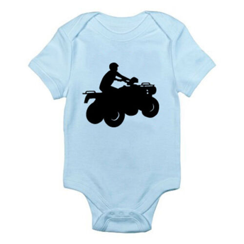 Sports Four Wheels Themed Baby Grow Vehicle QUAD BIKE SILHOUETTE Suit