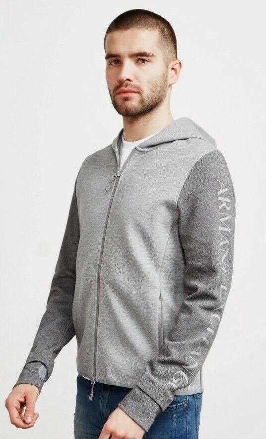 Armani Exchange Reflective Sleeve Mens zip jacket Hoodie Size XL/XXL 48