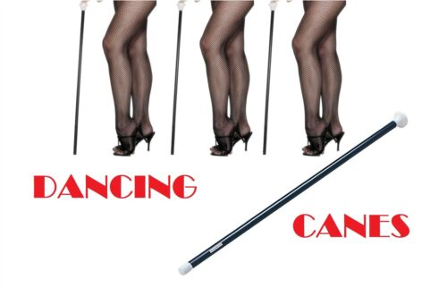 5 X DANCING CANES,WHITE ENDS,FANCY DRESS,BURLESQUE//TAP DANCE ACCESSORY STICK