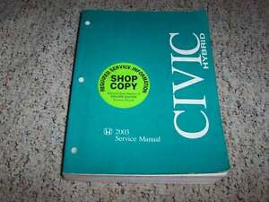 2003 honda civic hybrid factory shop service repair manual cvt 1 3l rh ebay com 2003 honda civic repair manual download 2003 honda civic repair manual free download