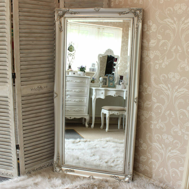 White Tamsin Freestanding Mirror Standing Vintage Curved Bedroom Decor Room For Sale Ebay