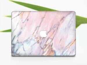 Pink Gold Oil Girly Brush Marble Hard Case Cover For Macbook Air 11 13 Pro 13 15