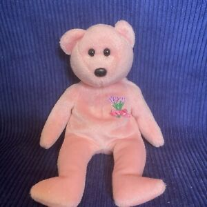 """TY Beanie Babies """"Mum"""" 2001 8.5"""" Pink Bear Mother's Day Exclusive /Europe/Au/NZ"""