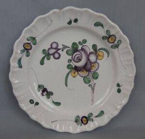SAMADET-ancienne-assiette-faience-decor-fleurs-XIXeme-ou-XXeme-plate-n9