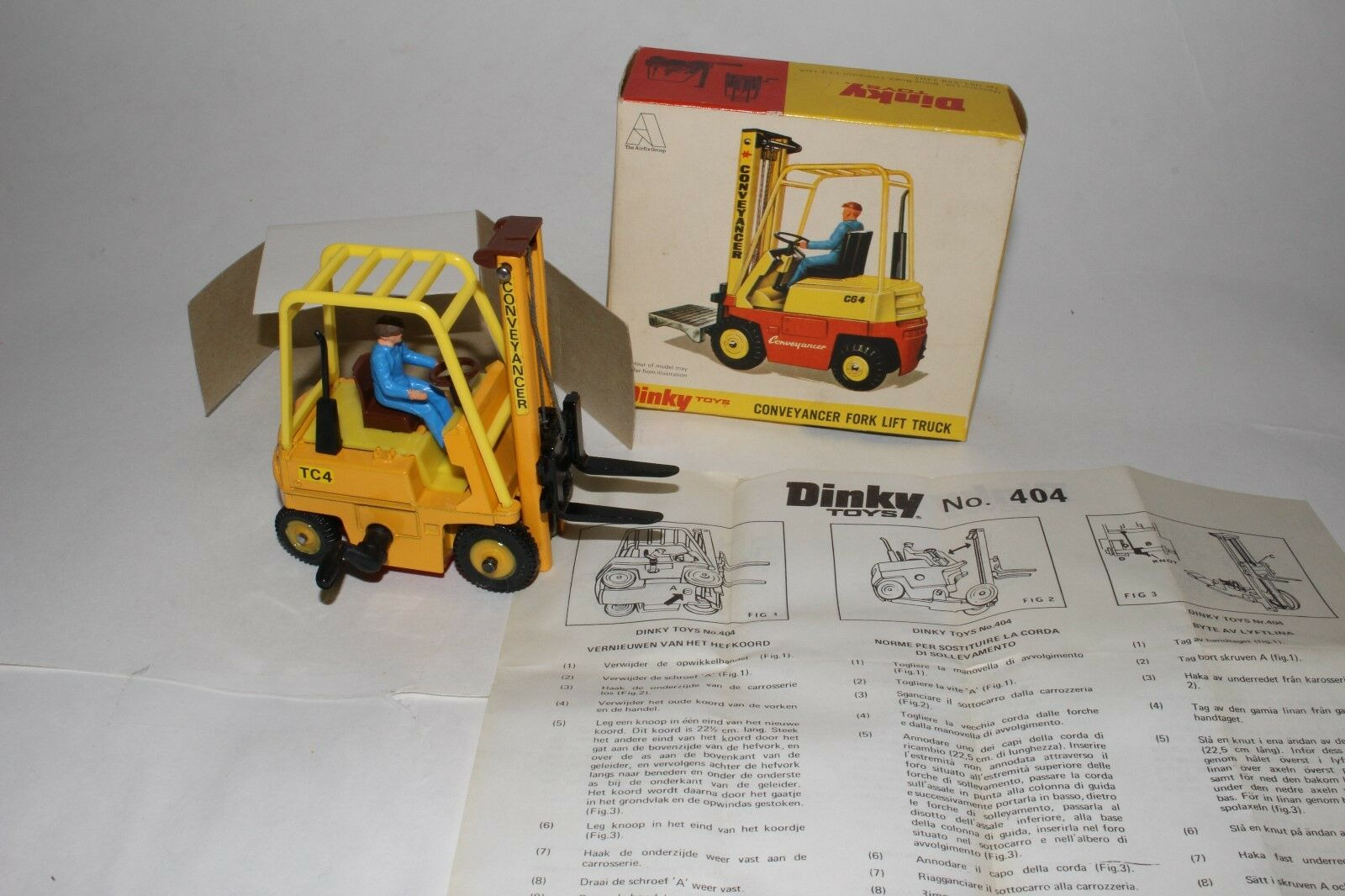 Dinky Toys conveyancer Montacargas, agradable con Caja Original