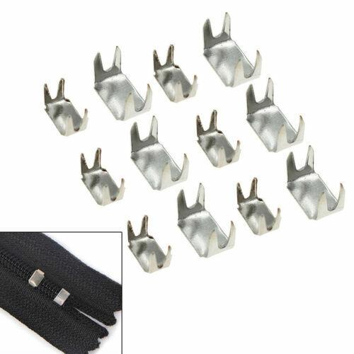 145//280pcs 3# 5# Metal Zipper Stopper Iron Open End Repair Clothing DIY Sewing
