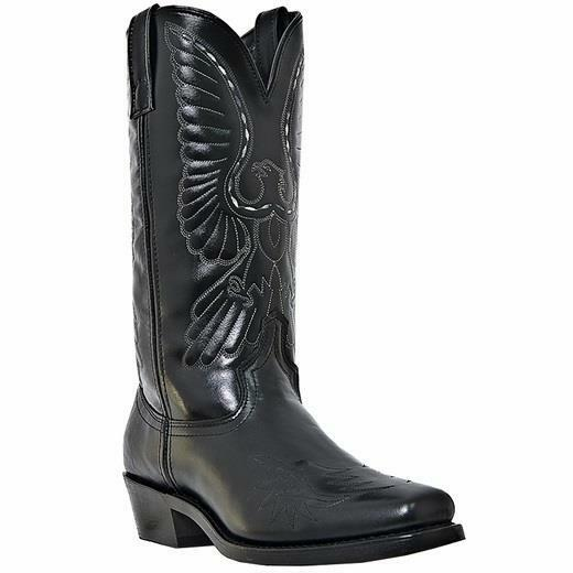 LAREDO GAINSVILLE MENS 13  Black Leather   Leather Like Boots 6840 M W 7-13 NEW