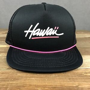 83f63f6ec0121 Hawaii Vintage 1980 s Snapback Mesh Trucker Hat By Hawaiian Headwear ...