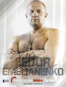 Fedor Emelianenko Signed 8x10 Photo BAS Beckett COA Bellator Picture Autograph 1