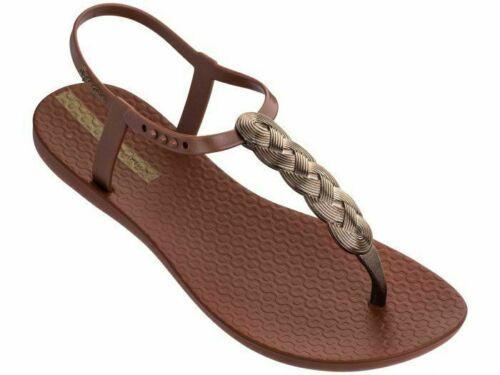 Bronze Silver Black Ipanema Charm Sandal 21 Braid Flipflops In Blush