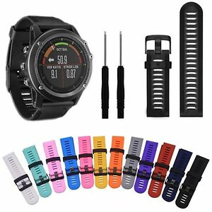 For-Garmin-Fenix3-Fenix3-HR-Silicone-Strap-Replacement-Watch-Strap-Band-Tool