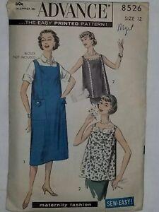 Maternity Jumper Dress Tunic Top Sewing Pattern 8526 Size 12 ADVANCE CUT