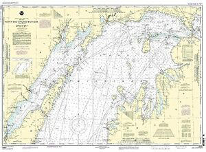 NOAA Chart North end of Lake Michigan, including Green Bay 29th Edition 14902
