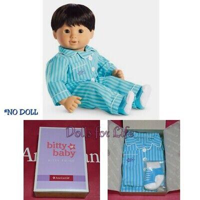 American Girl Doll BITTY TWIN BOY BLUE STRIPED PJS Retired Pajamas New In Box
