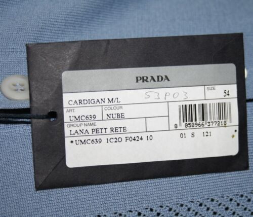 Cardigan Wolle Strickjacke Umc639 52 Prada L Neu 50 Pullover Milano q5n07B