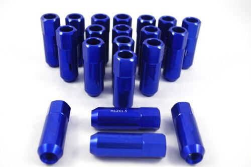 BLUE ALUMINUM RACING 12X1.5MM WHEEL EXTENDED LUG NUTS FOR CIVIC INTEGRA EG 20PCS