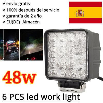 48W Coche 12V 16LED Trabajo Faros Foco Lámpara Furgoneta Atv Offroad SUV Camión