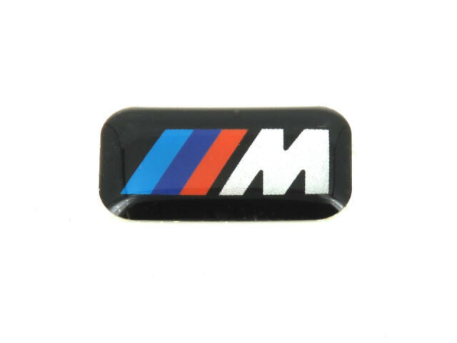 4 x genuine bmw m badges m sport alloy wheels stickers. Black Bedroom Furniture Sets. Home Design Ideas