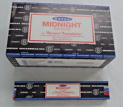 Satya Sai Nag Champa Incense Sticks Midnight Bulk Lot 180 Gm 12 X 15 Gm Packs Ebay