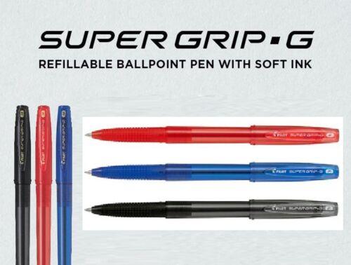 Pilot Super Grip G Cap CHOOSE COLOR 0.5 0.7 1.0 1.2 1.6 mm Pen EF F M B XB Black