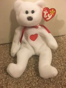 34fedff5cdb Rare Ty Valentino Beanie Baby Bear with errors!! Mint condition