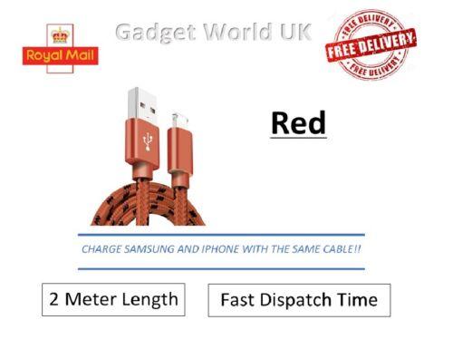 2in1 Cargador Cable 2M longitud Samsung iPhone 7 8 XR S7 S8 S8 plusfast X Cargo