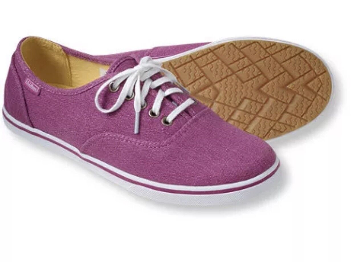 LL Color Bean Women's Canvas Sneakers Color LL Dark Orchid / White Size  US 9M New f814e7