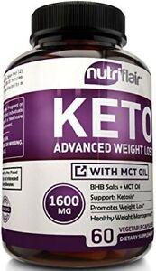 Nutri Flair Keto Diet Pills1600mg Advanced Weight Loss 60 Capsules Exp: 07/2021
