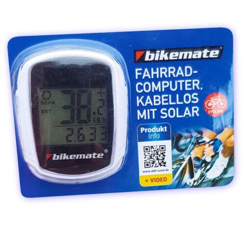 Ordinateur de vélo sans fil avec fonctionnement solaire pour soutenir la Batterie
