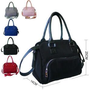 Details zu Women's Designer Style Nylon Multipocket Handbag Ladies Shopper Tote Bag