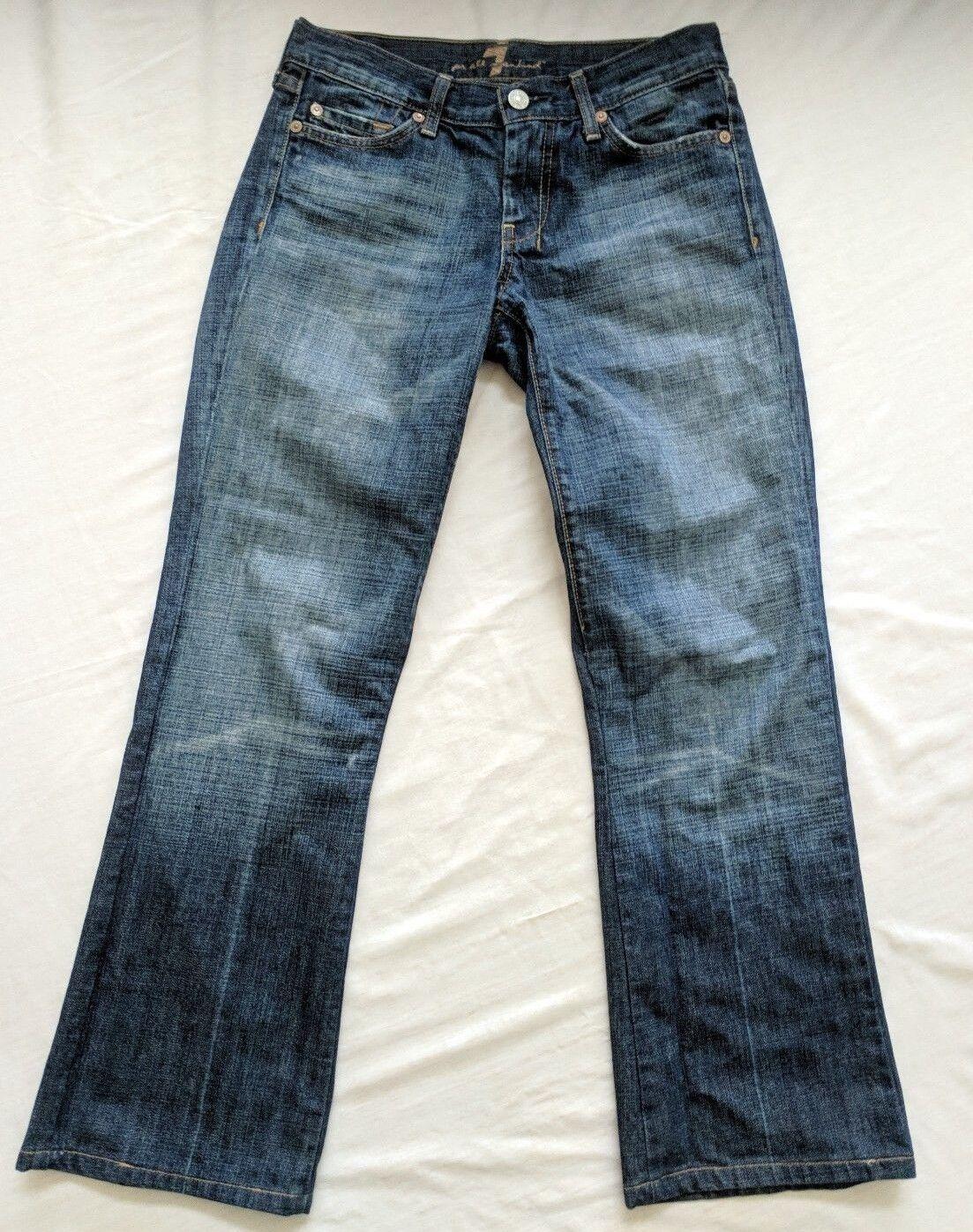 7 For All Mankind Dojo Straight Leg Jeans Medium Wash Size 26 27  Inseam