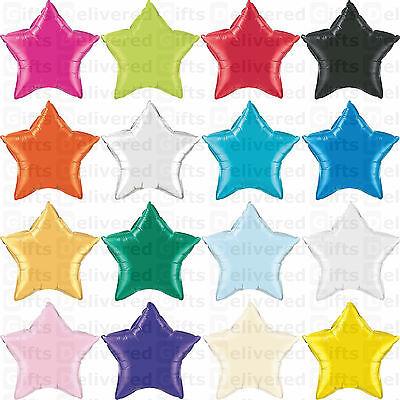 "18"" Inch/45cm Foil Star Balloon - 16 Colours To Choose - Helium Metallic Wedding"