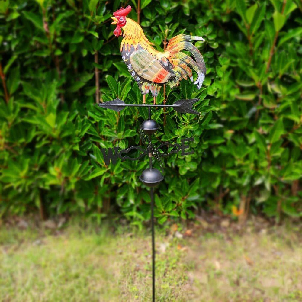 Metal Weather Vane Rooster Roof Wind Direction Garden Ornament Wind Indicator UK