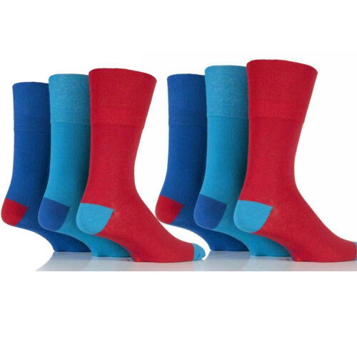 12 Pairs Men Socks Gentle Grip Non Elastic Diabetic Soft Cotton UK 6-11