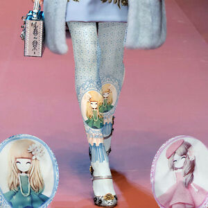 Lolita-Cute-Girl-Pink-Blue-Decorative-Opaque-Tights-Kei-Kawaii-Cosplay-Anime