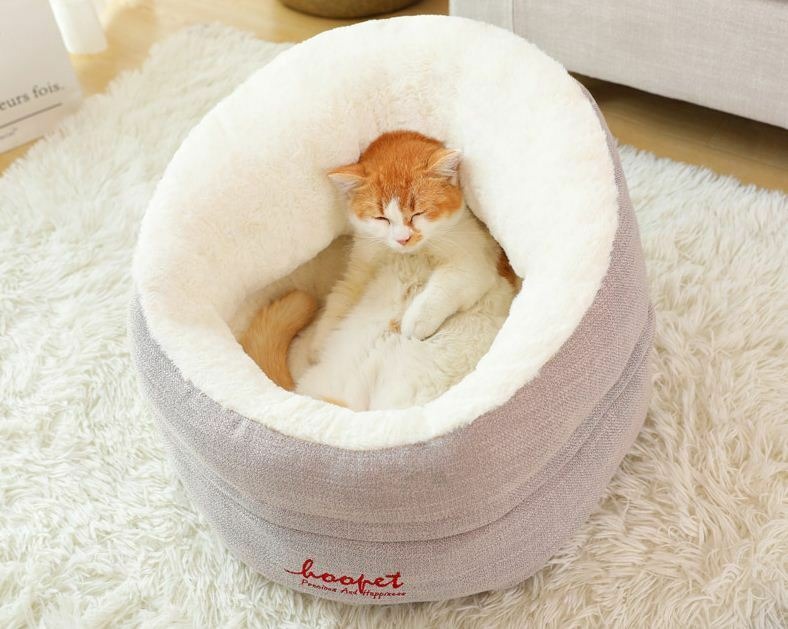 New Warm Pet Dog Cat House Bed Sofa Cushion Mat Removable Deep Bed Kitty S,M