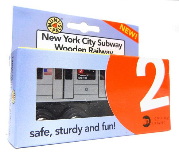 MuniCops MP01 -1102 träen Subway Train New York City MTA NYC -2 7th Avenue Exp
