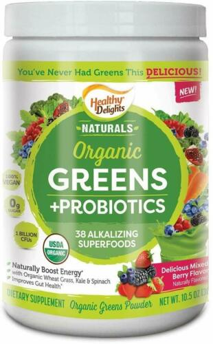 Healthy-Delight-Organic-Greens-Probiotics-Powder-10-6oz-Berry-Exp-9-2021
