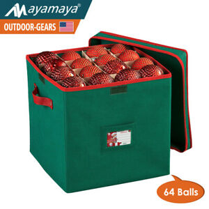 Christmas Ornament Storage Box Bag Container Chest ...