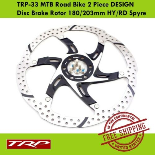 TRP TRP-33 MTB Road Bike 2 Piece DESIGN Disc Brake Rotor 180//203mm HY//RD Spyre