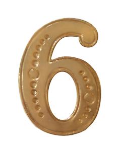 Number 6 Gilded Orange Order Collarette Character