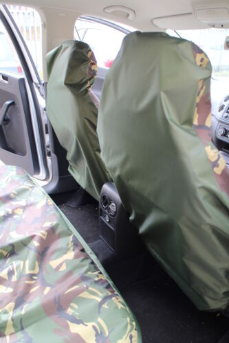 Camouflage Waterproof Car Seat Covers Full Set Jeep Wrangler